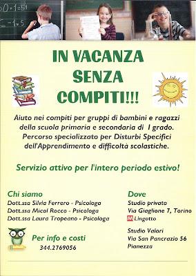 Gruppo Aiuto Compiti per Bambini con DSA a Pianezza