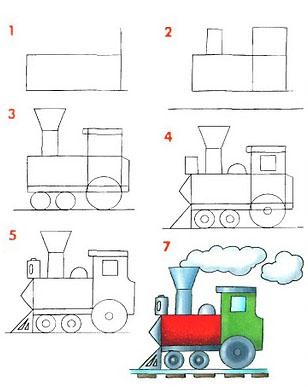 Cómo dibujar un tren
