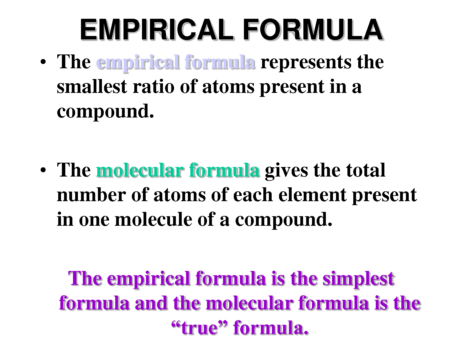 Chemt3am Weekly Reflections Week 23 Empirical Formulas