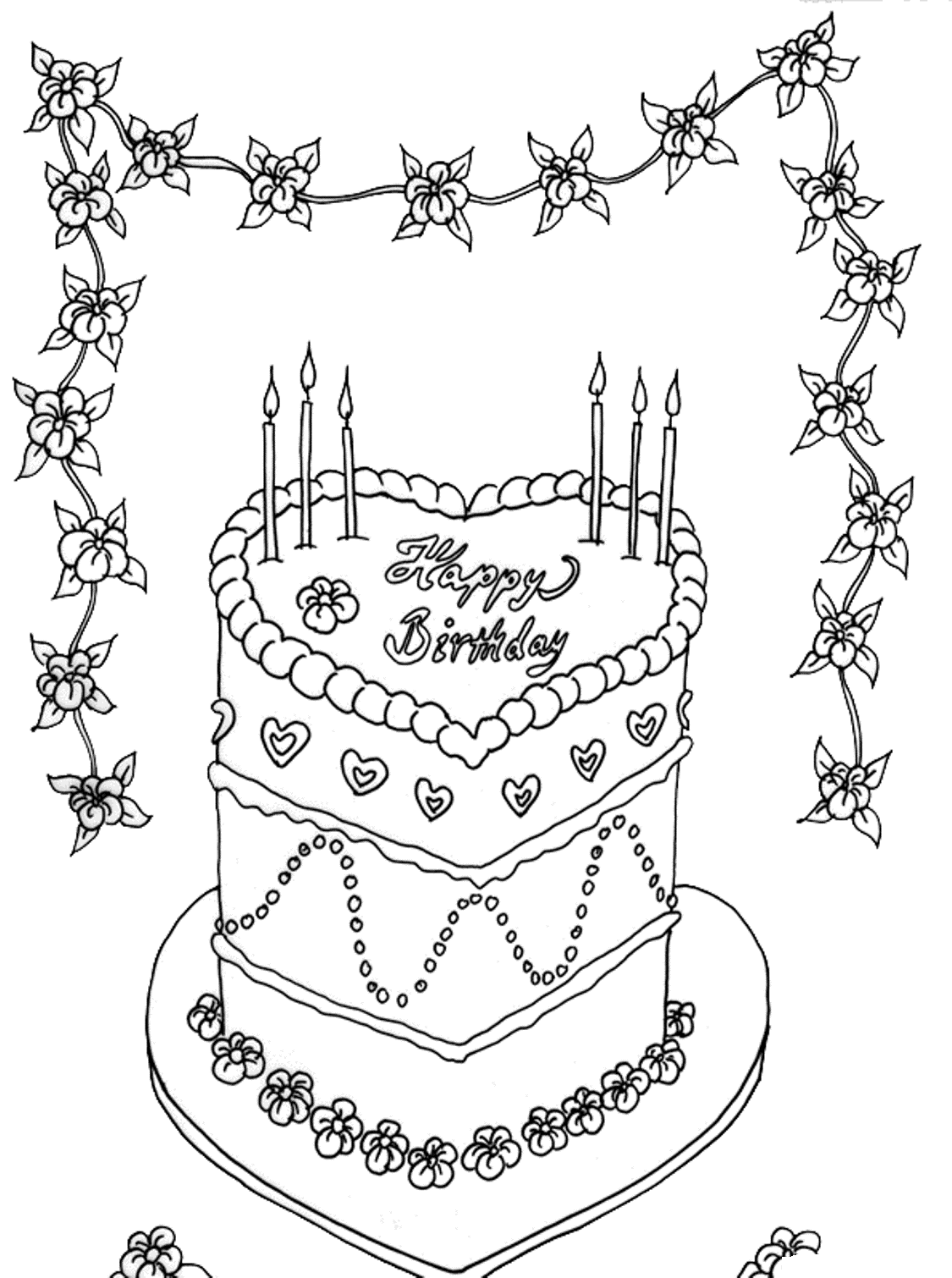 Gambar Mewarnai Kue Ulang Tahun 15
