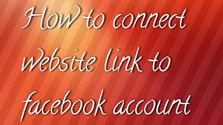 Facebook, website, blog link