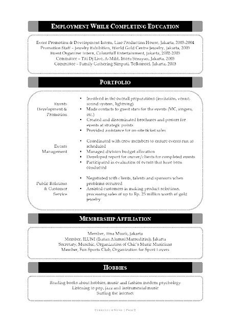 resumemishel phpapp sample template curriculumvitae curriculumvitae ...