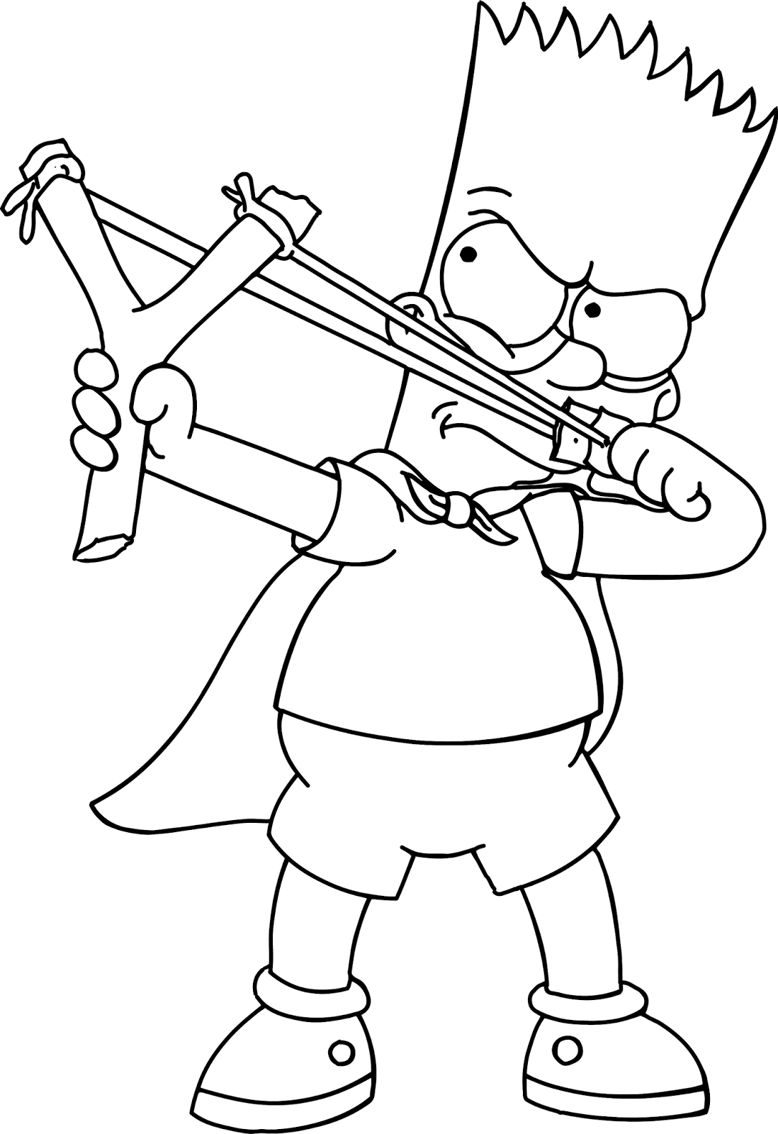 bartman simpsons coloring pages - photo#26