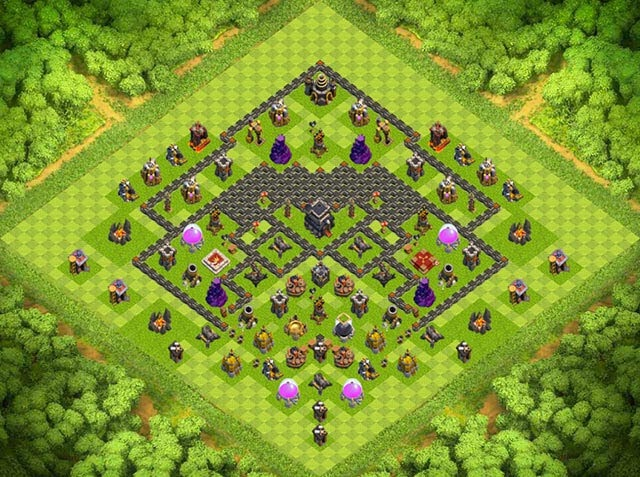 Base Town Hall 9 Clash of Clans Clan War