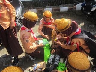 Utusan MI Al Raudlah Pada Lomba Wide Game MILAD MTs Muhammadiyah 5 Banjarmasin