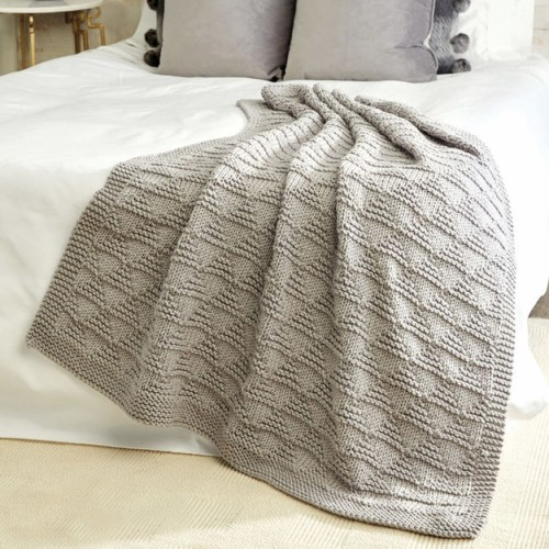Cozy Triangles Knit Throw - Free Pattern