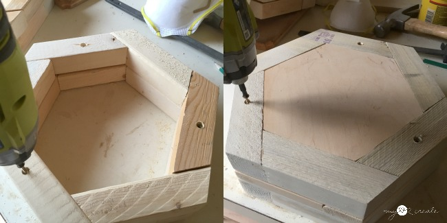 stacking hexagons to make a planter