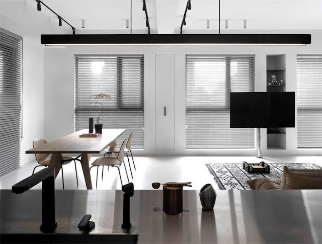 Дизайн-проекты. Черно-белый интерьер с этническими элементами