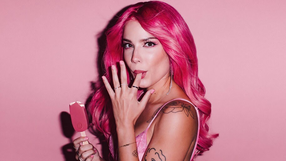 Halsey, Pink, Hair, Celebrity, Photoshoot, 4K, #6.2477