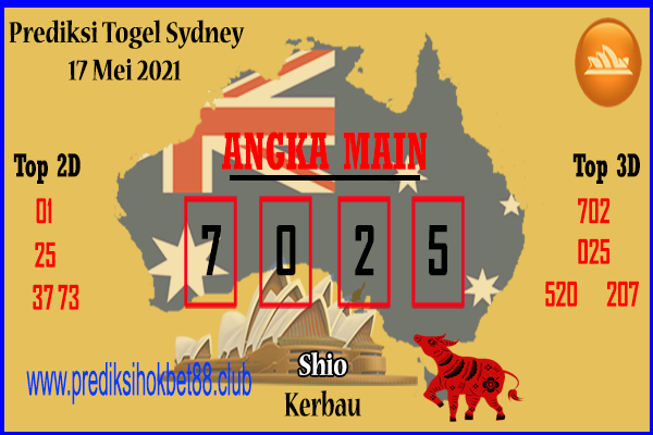 Bocoran Togel Sydney 17 Mei 2021