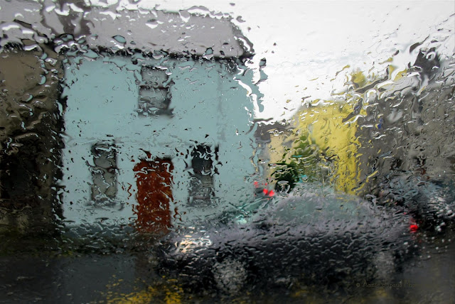 Galway city all wet in the rain