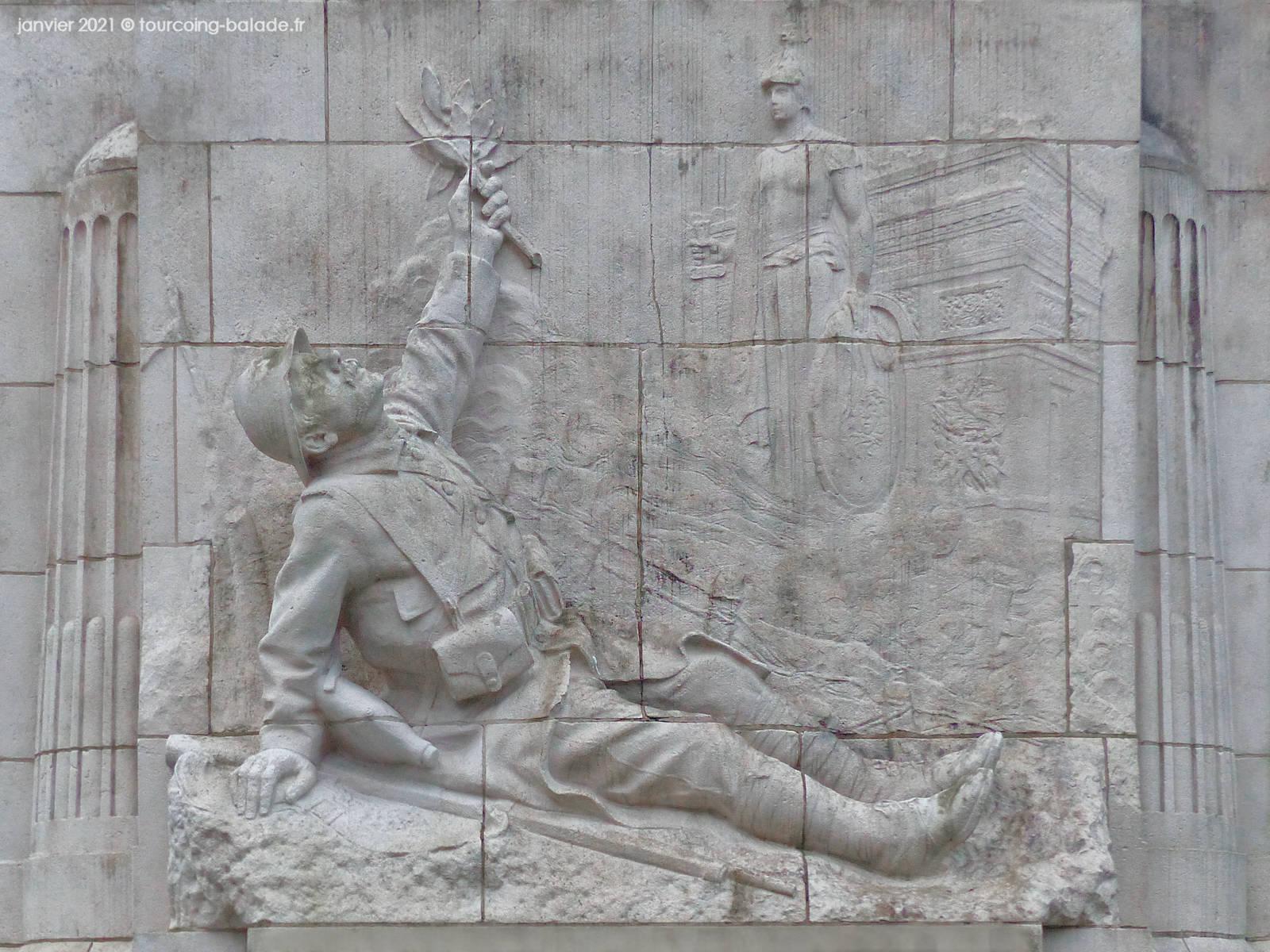 Poilu du Monument aux Morts, Mouvaux 2021