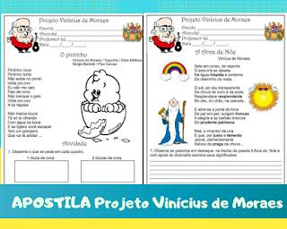 50 atividades para imprimir Projeto Vinicius de Moraes