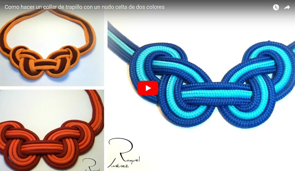 diy collar de nudos