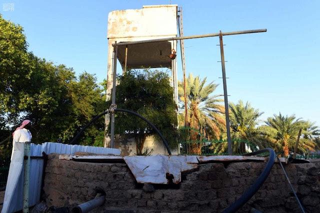 Sumur Raumah wakaf Utsman bin Affan masih mengalir hingga sekarang meski telah berusia 1.400 tahun. (Saudi Press Agency)