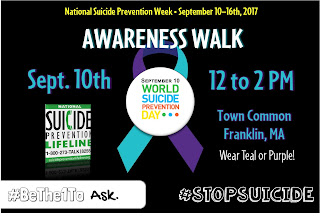 Take a walk on the Town Common - World Suicide Prevention Day - Sep 10