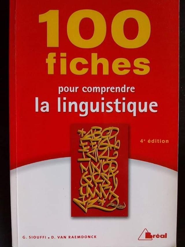 """TÉLÉCHARGER EBOOK """"100 FICHES POUR COMPRENDRE LA LINGUISTIQUE"""" LIVRE DE """"GILLES SIOUFFI"""" PDF GRATUIT"""