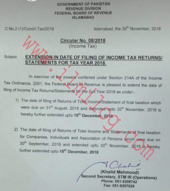 Income Tax Returns Filing Extension
