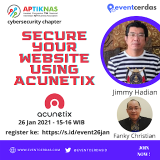 Webinar APTIKNAS CYBERSECURITY CHAPTER 26 Jan 2021
