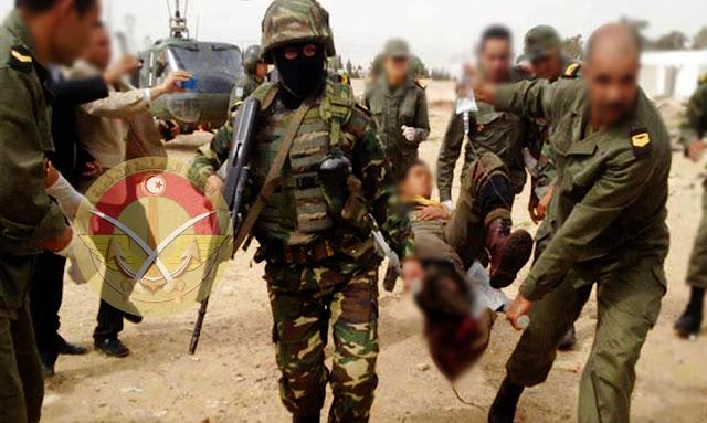 جنود مصابين في الجبل تونس