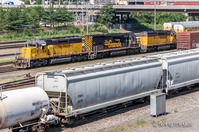UP 3084, UP 8612, and UP 3068 sit in 12th Street Yard at St. Louis MO.