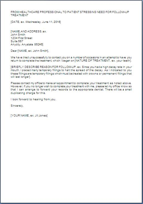 Doctor Letter To Patient Template