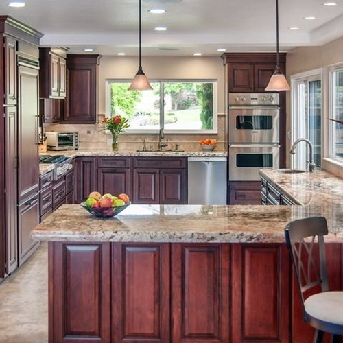 7 Beautiful Dark And Light Brown Kitchen Cabinet Ideas Dream House