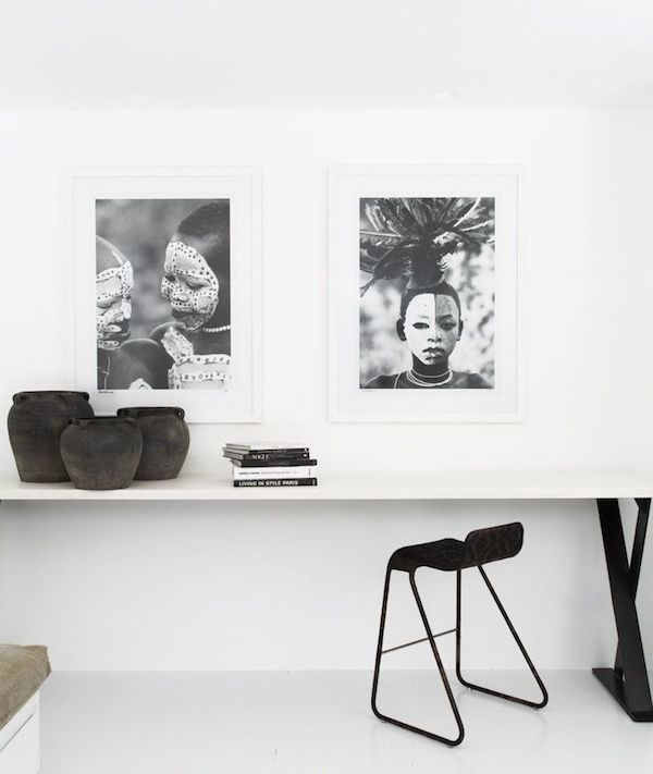 Vosgesparis a terrace apartment in black white by for Terrace in a sentence