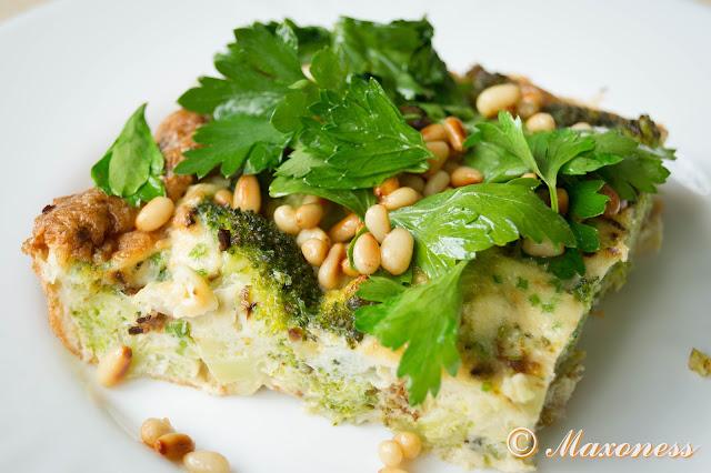 Фриттата с голубым сыром и брокколи от Джейми Оливера. Итальянская кухня