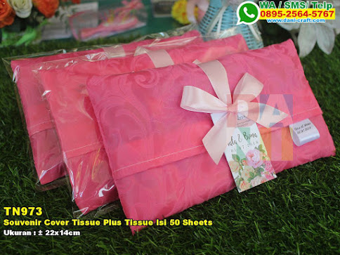 Souvenir Cover Tissue Plus Tissue Isi 50 Sheets