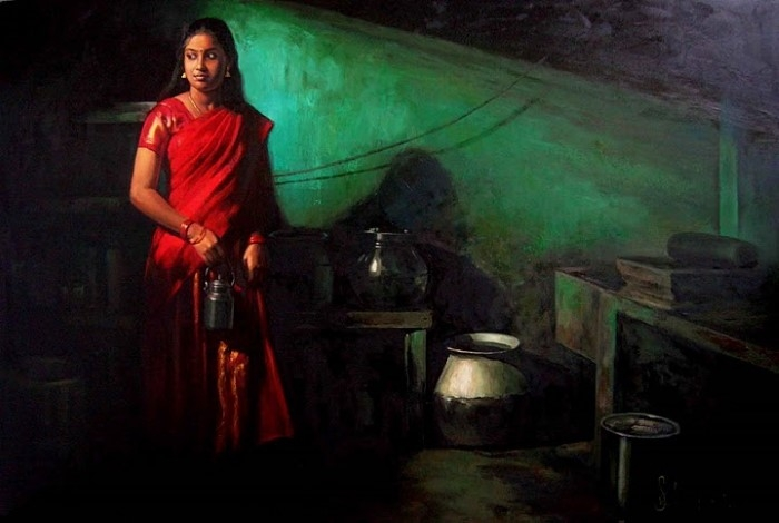 Индийский художник. S Elayaraja