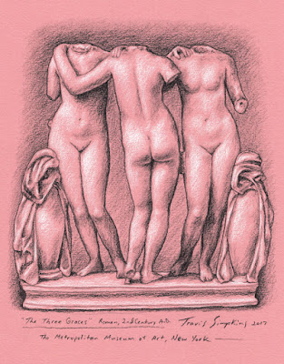 The Three Graces. Ancient Rome. The Metropolitan Museum of Art. by Travis Simpkins