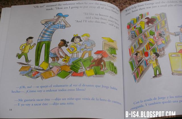 Curious George Bilingual Book