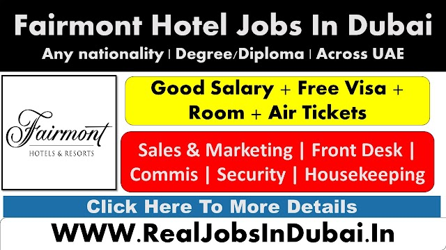 Fairmont Careers Jobs Vacancies  UAE 2021