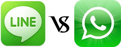 LINE Vs WhatsApp in Play Store