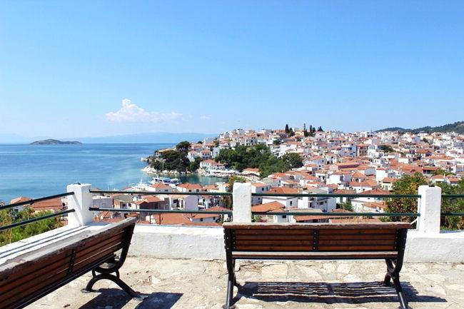 Skiathos town view