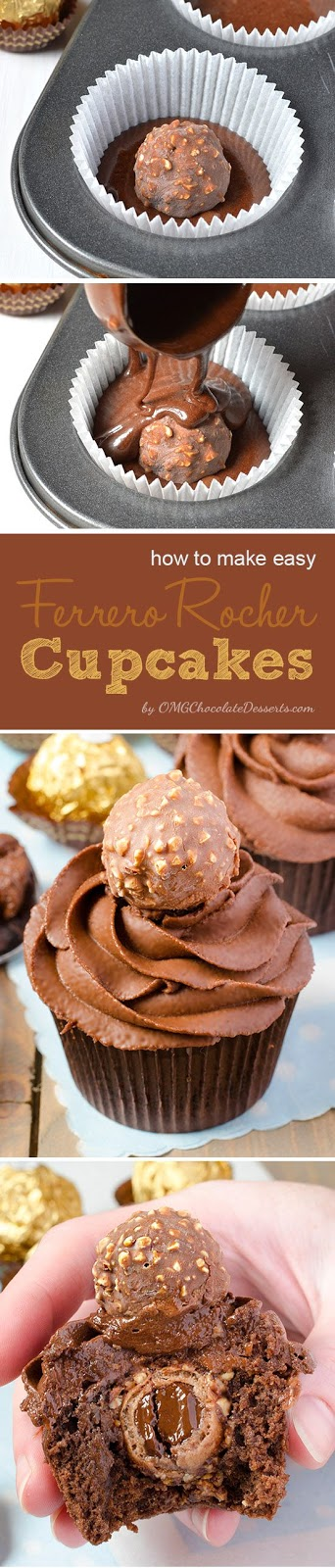 The Best Ferrero Rocher Cupcakes