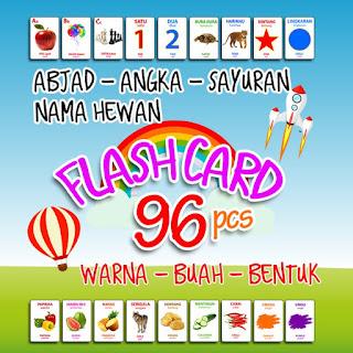 Flashcard 96 Kartu Pintar Balita