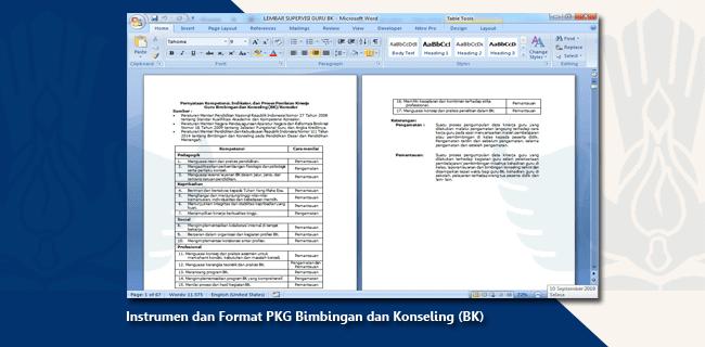 Instrumen dan Format PKG Bimbingan dan Konseling (BK)