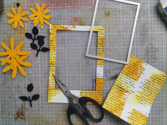 Mango Melody Cards Elements Daisy Leaf Vintage Stampin' Up