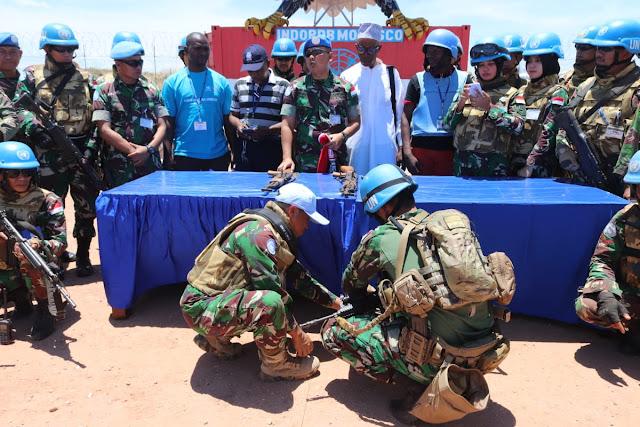 Akhiri Operasi Gabungan, Satgas Indo RDB MONUSCO Terima 42 Pucuk AK 47