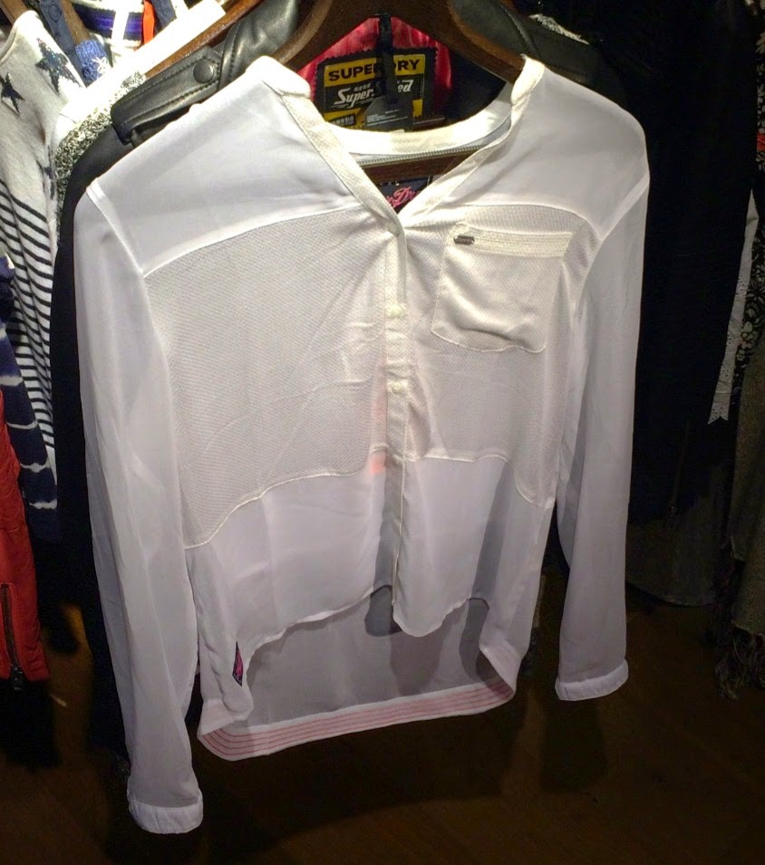 superdry white textured blouse