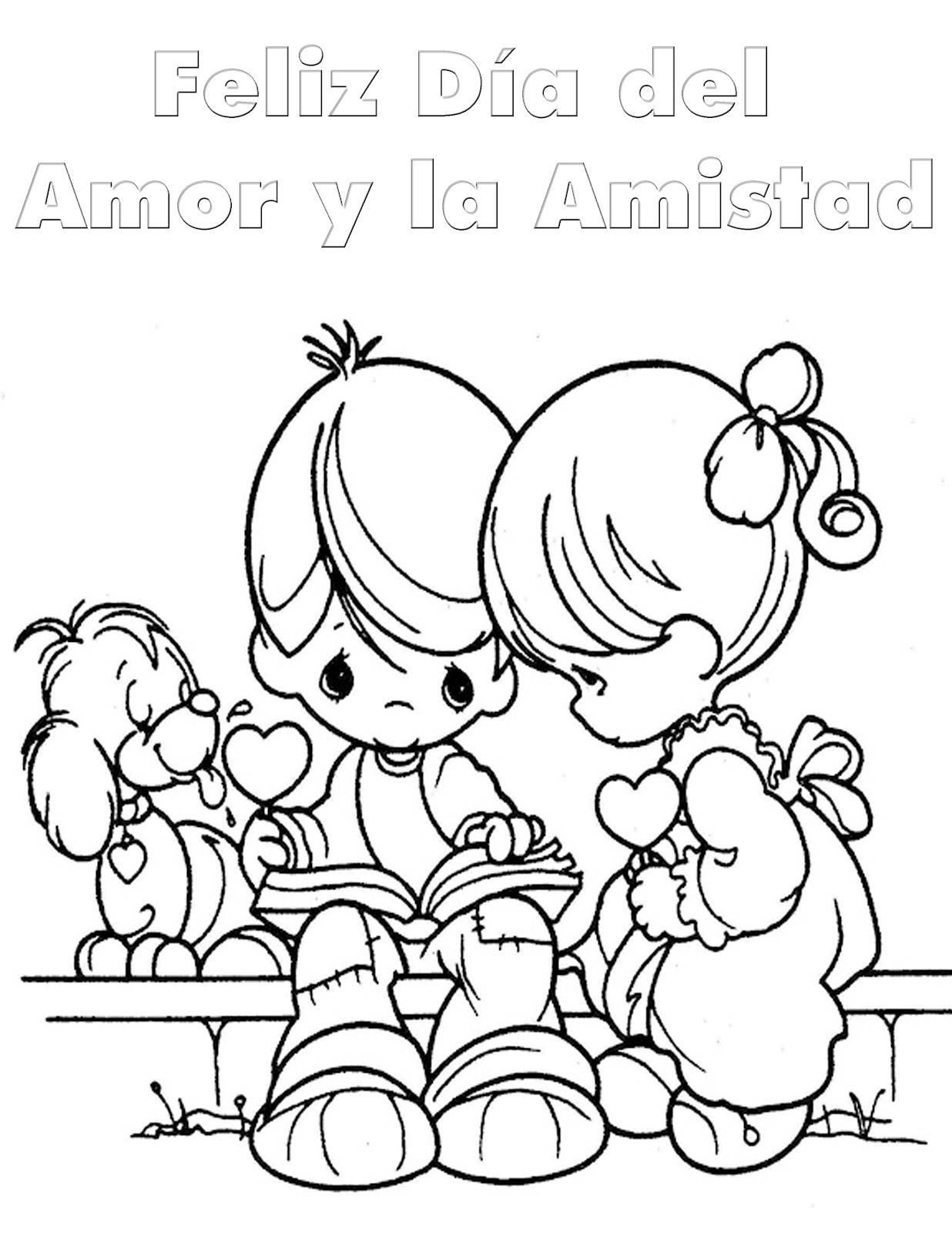 Pinto Dibujos Dia Del Amor Y La Amistad Para Colorear