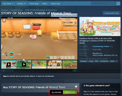 Story of Seasons: Frends of Mineral Town di Steam Store