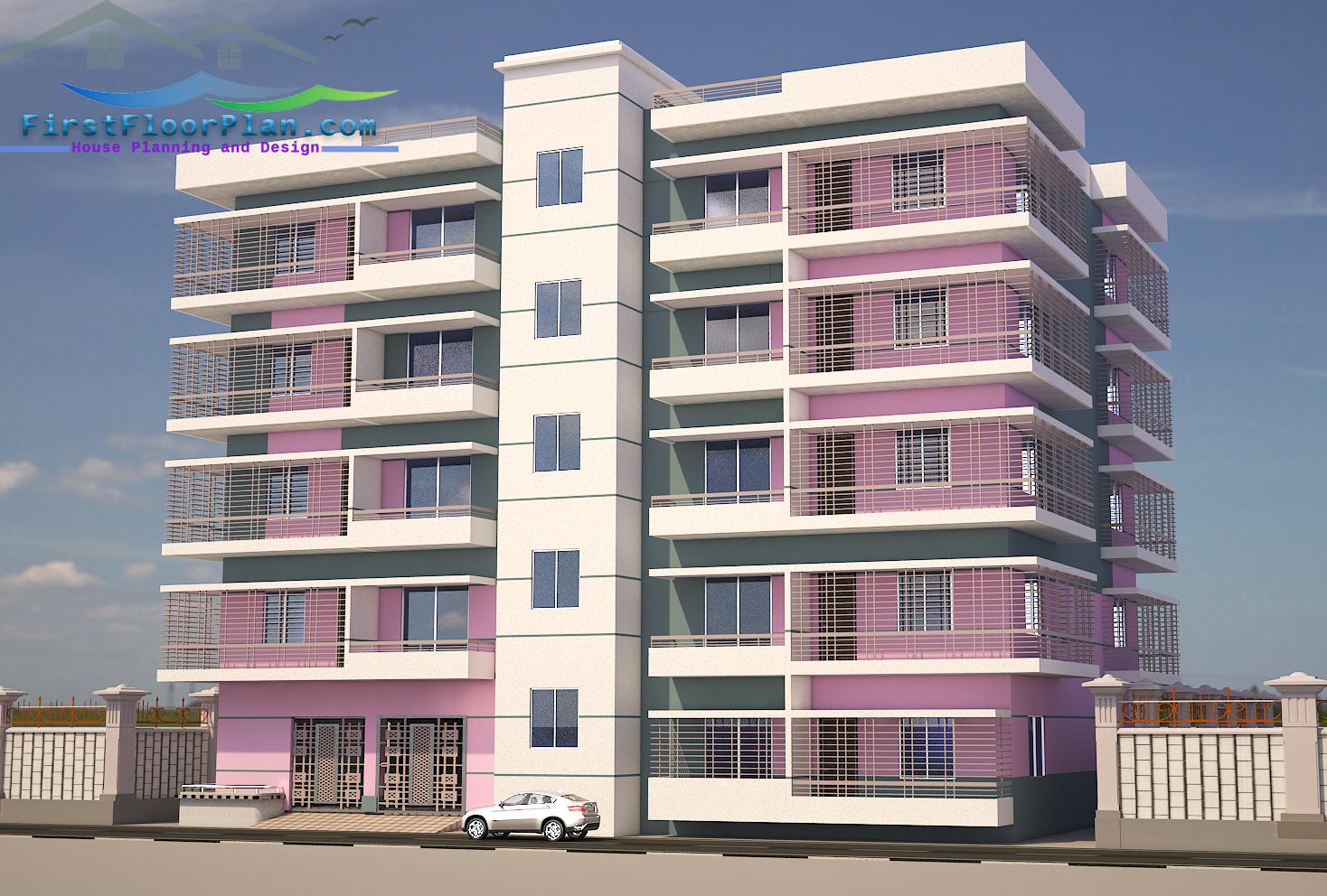 5 storey building design