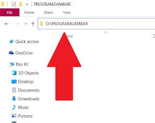 Gambar lokasi folder dari gambar yang akan disimpan untuk membuat web