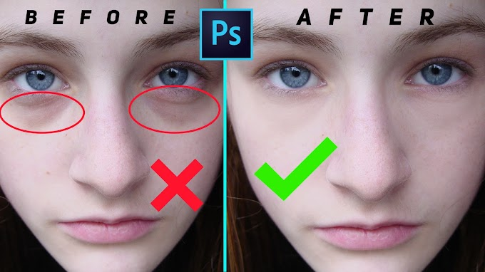 How to Remove Eye bags and Eye Dark Circle in Photoshop