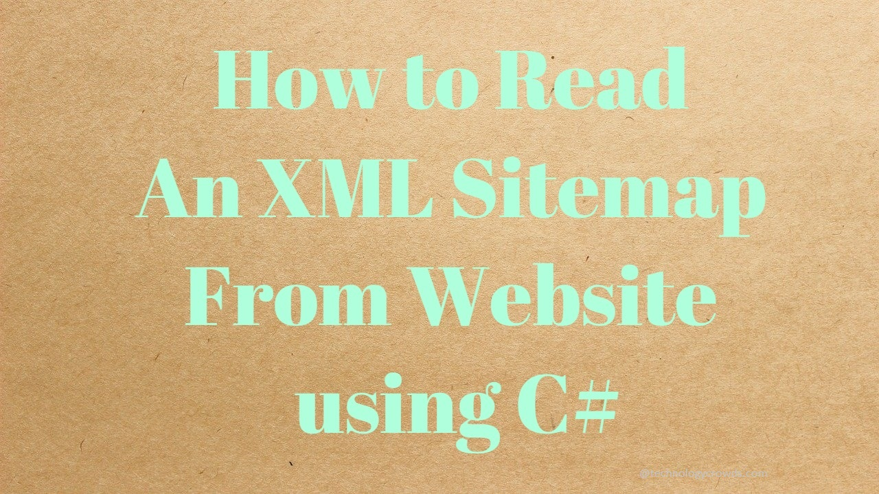 How to Read an XML Sitemap From Website using C#