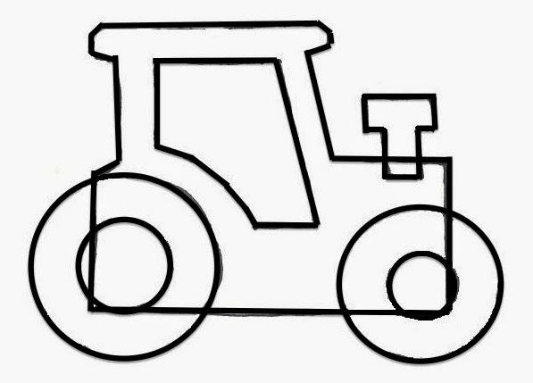 Sailboats and circle skirts felt tractor ornament free for Tractor template to print