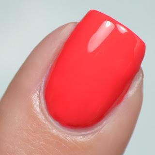 bright coral nail polish